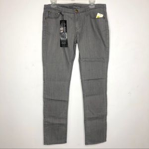 Anthro Level 99 Gray Trouser Jeans New
